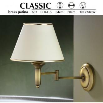 JUPITER 507 P.CLK L | ClassicJ Jupiter falikar lámpa elforgatható alkatrészek 1x E27 patinás réz, krémszín