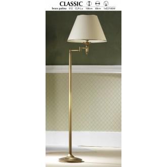 JUPITER 512 P.CLP L | ClassicJ Jupiter álló lámpa 158cm taposókapcsoló elforgatható alkatrészek 1x E27 patinás réz, krémszín