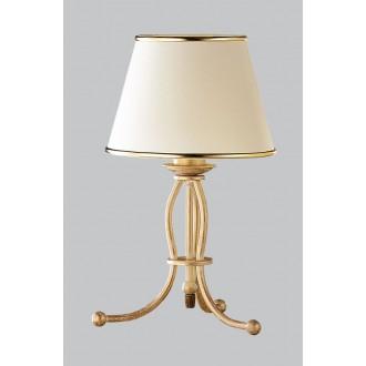 JUPITER 517 LA-L-E | LauraJ Jupiter asztali lámpa 38cm vezeték kapcsoló 1x E27 arany, ekrü