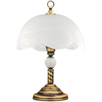 JUPITER 6 JG | JupiterJ Jupiter asztali lámpa 47cm vezeték kapcsoló 1x E27 patinás réz, fehér