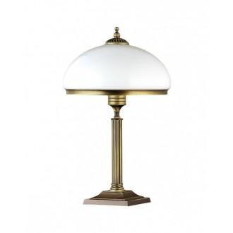 JUPITER 626 ZU G | ZeusJ Jupiter asztali lámpa 50cm vezeték kapcsoló 2x E14 patinás réz, fehér