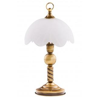 JUPITER 7 JN | JupiterJ Jupiter asztali lámpa 40cm vezeték kapcsoló 1x E27 patinás réz, fehér
