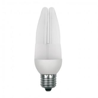 KANLUX 12843 | E27 9W -> 44W Kanlux gyertya C37 kompakt fénycső CDL 420lm 2700K