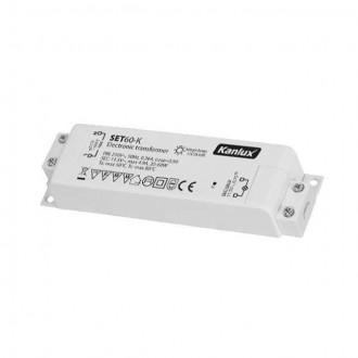 KANLUX 1425 | Kanlux elektronikus transzformátor 60W 11,5V~4,9A téglalap hőbiztosíték fehér