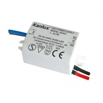 KANLUX 1440 | Kanlux LED tápegység 350mA DC 1-3x 1W 0,5-10V téglalap hőbiztosíték fehér