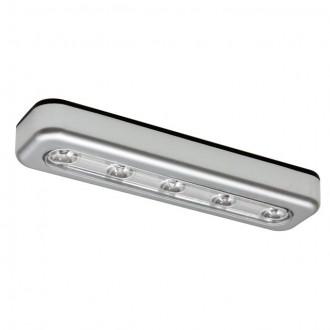 KANLUX 14810 | Alexa_KA Kanlux bútormegvilágító lámpa téglalap elemes/akkus 1x LED 15lm 6500K ezüst
