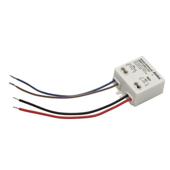 KANLUX 18040 | Kanlux LED tápegység 12V DC 0-6W 0,5A négyzet fehér