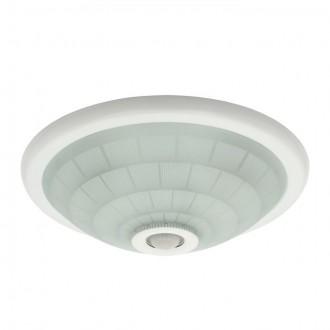 KANLUX 18120 | Fogler Kanlux fali, mennyezeti lámpa kerek mozgásérzékelő 2x E27 fehér