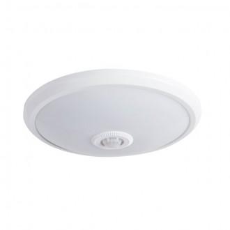 KANLUX 18121 | Fogler Kanlux fali, mennyezeti lámpa kerek mozgásérzékelő 1x LED 800lm 4000K fehér