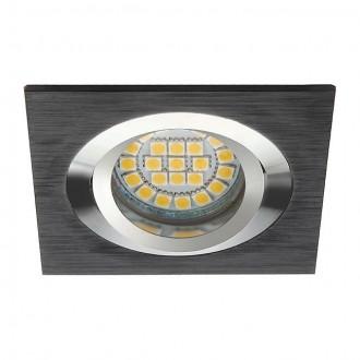 KANLUX 18289 | Seidy Kanlux beépíthető lámpa négyzet billenthető 90x90mm 1x MR16 / GU5.3 fekete