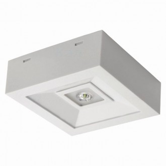 KANLUX 18641 | Tric_Powerled_NT Kanlux vészvilágító lámpa falra és mennyezetre is szerelhető 1x LED 200lm 6000-8000K IP41 fehér