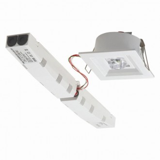 KANLUX 18649 | Tric-Powerled-PT Kanlux vészvilágító lámpa beépíthető 1x LED 200lm 6000-8000K IP41 fehér