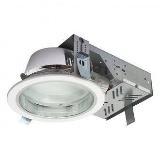 KANLUX 18670 | Perfo Kanlux beépíthető - mélysugárzó lámpa kerek Ø195mm 2x G24q-2 / T2U/4P IP44 fehér