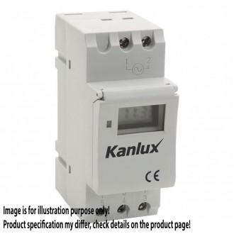KANLUX 18721 | Kanlux időkapcsoló DIN35 modul asztronómiai funkcióval fehér