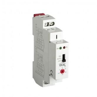 KANLUX 18731 | Kanlux időkapcsoló DIN35 modul, lépcsőház világosszürke, piros, fekete
