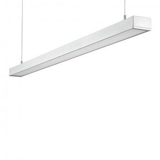 KANLUX 18860 | Lanka Kanlux függeszték lámpa téglalap 1x G5 / T5 4000K ezüst