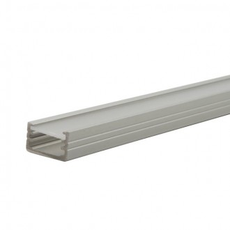 KANLUX 19161 | Kanlux alumínium led profil B - búra nélkül - 1m max. 8 mm LED szalaghoz alumínium