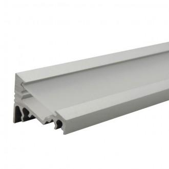 KANLUX 19162 | Kanlux alumínium led profil C - búra nélkül - 1m max. 10 mm LED szalaghoz alumínium