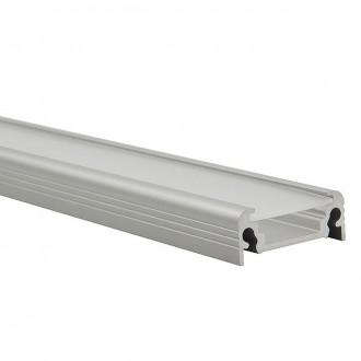 KANLUX 19163 | Kanlux alumínium led profil D - búra nélkül - 1m max. 10 mm LED szalaghoz alumínium