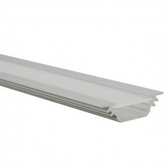 KANLUX 19164 | Kanlux alumínium led profil E - búra nélkül - 1m max. 10 mm LED szalaghoz alumínium