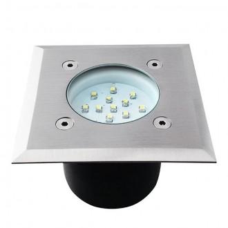 KANLUX 22051 | Gordo Kanlux beépíthető lámpa négyzet 100x100mm 1x LED 6200 - 6800K IP66 IK10 nemesacél, rozsdamentes acél, átlátszó