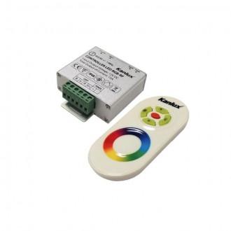 KANLUX 22140 | Kanlux vezérlő RGB LED RF téglalap ezüst, fehér