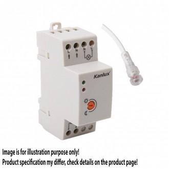 KANLUX 22370 | Kanlux fényérzékelő szenzor - alkonykapcsoló DIN35 modul IP65/20 fehér