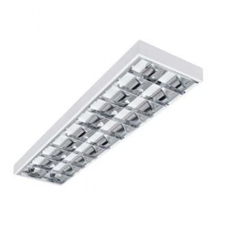 KANLUX 22672 | Notus-4LED Kanlux mennyezeti, függeszték armatúra téglalap T8 LED fényforráshoz tervezve 2x G13 / T8 LED fehér