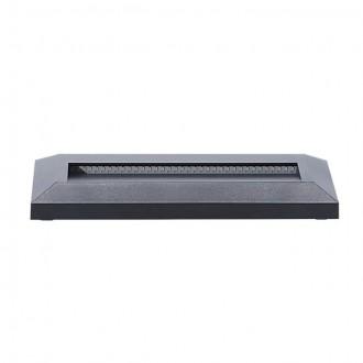 KANLUX 22760 | Onstar-Croto Kanlux fali lámpa téglalap 1x LED 60lm 6500K IP65 IK09 szürke