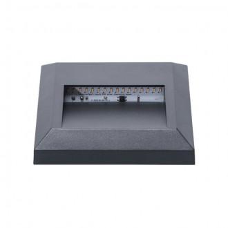 KANLUX 22770 | Onstar-Croto Kanlux fali lámpa négyzet 1x LED 30lm 6500K IP65 IK09 szürke