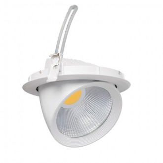 KANLUX 22840 | Hima Kanlux beépíthető - mélysugárzó lámpa kerek elforgatható fényforrás Ø215mm 1x LED 2100lm 4000K fehér