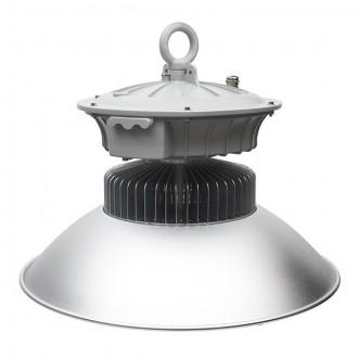 KANLUX 22871 | Euro_LED Kanlux LED csarnokvilágító lámpa villásdugó - kapcsoló nélkül 1x LED 9100lm 4000K IP65 szürke, alumínium