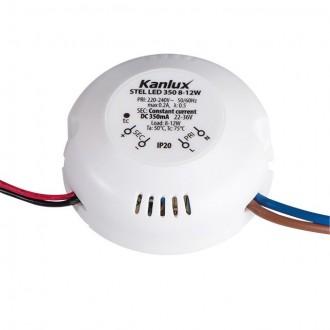 KANLUX 23070 | Kanlux LED tápegység 350mA DC 8-12W 22-36V kerek fehér