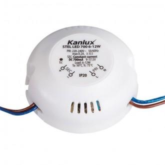 KANLUX 23071 | Kanlux LED tápegység 700mA DC 6-12W 9-17,5V kerek fehér