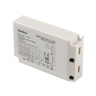 KANLUX 23090 | Kanlux LED tápegység DIM. 200/250/300/350mA DC 17-25W 48V-72V téglalap szabályozható fehér