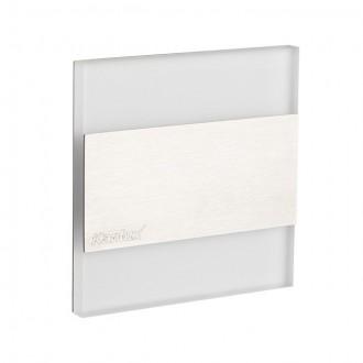 KANLUX 23102 | Kanlux_Terra Kanlux beépíthető lámpa négyzet 75x75mm 1x LED 13lm 3000K nemesacél, rozsdamentes acél, átlátszó