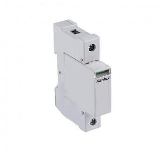 KANLUX 23134 | Kanlux túlfeszültség korlátozó modul DIN35 modul, T1+T2/B+C, 50kA - 1P világosszürke