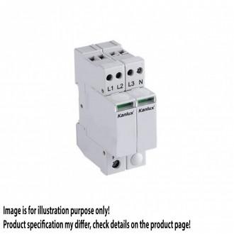 KANLUX 23137 | Kanlux túlfeszültség korlátozó modul DIN35 modul, T1+T2/B+C, 200kA, 3P+N világosszürke