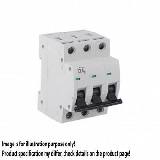KANLUX 23163 | Kanlux kismegszakító DIN35, C10/3 világosszürke, fekete