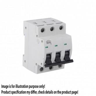 KANLUX 23166 | Kanlux kismegszakító DIN35, C63/3 világosszürke, fekete