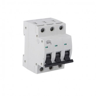 KANLUX 23170 | Kanlux kismegszakító DIN35, B63/3 világosszürke, fekete