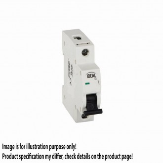 KANLUX 23176 | Kanlux kismegszakító DIN35, B50/1 világosszürke, fekete