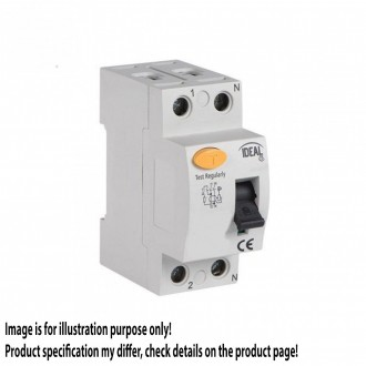 KANLUX 23181 | Kanlux áramvédő kapcsoló (FI relé) 40A DIN35 modul, 2P világosszürke, fekete, sárga
