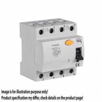 KANLUX 23183 | Kanlux áramvédő kapcsoló (FI relé) 25A DIN35 modul, 4P világosszürke, fekete, sárga