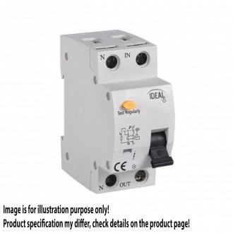 KANLUX 23217 | Kanlux áramvédő kapcsoló (FI relé) + túláramvédő 16A DIN35 modul, 2P C AC világosszürke, fekete, sárga