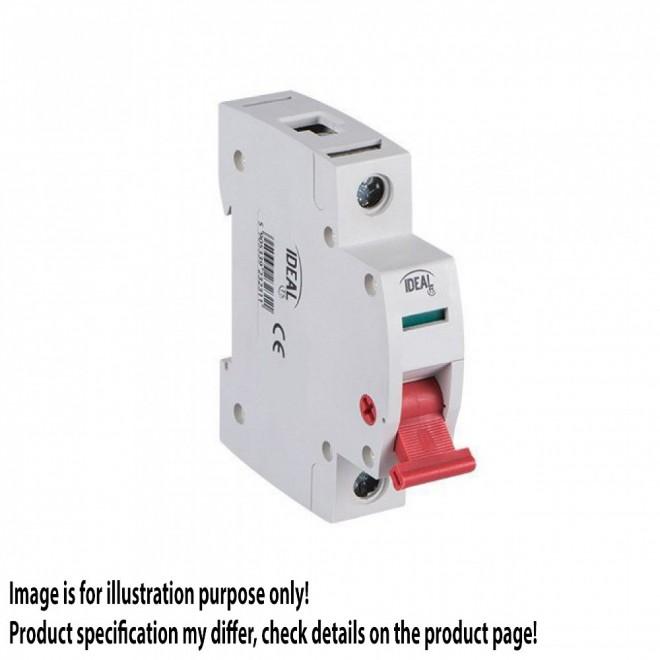 KANLUX 23230 | Kanlux leválasztó kapcsoló DIN35 modul, 1 - 25A világosszürke, piros