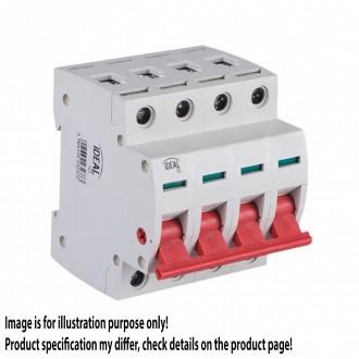 KANLUX 23237 | Kanlux leválasztó kapcsoló DIN35 modul, 4 - 100A világosszürke, piros