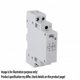 KANLUX 23240 | Kanlux kapcsoló relé DIN35 modul - 1, 20A/7A - 20 világosszürke