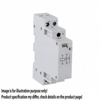 KANLUX 23244 | Kanlux kapcsoló relé DIN35 modul - 1, 20A/7A - 11 világosszürke