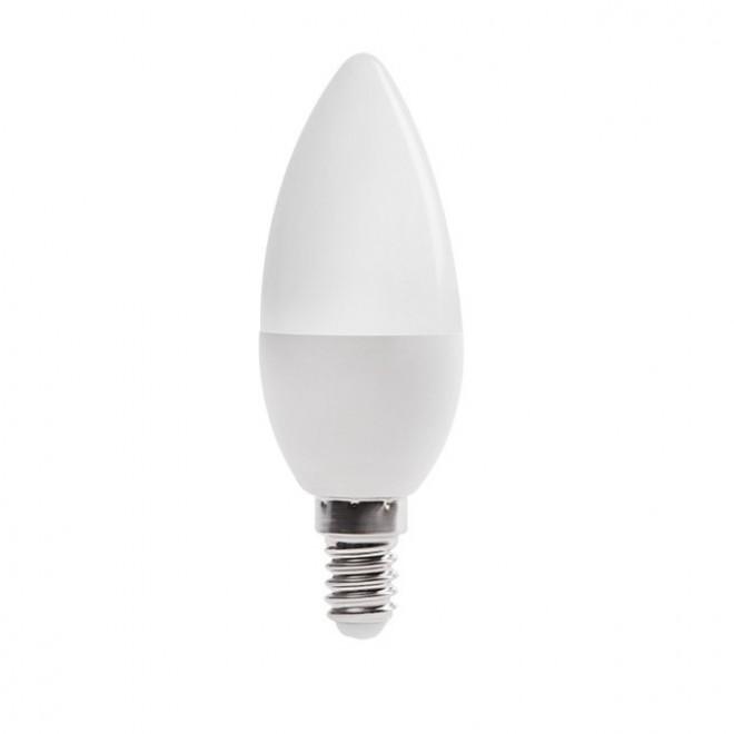 KANLUX 23431   E14 6,5W -> 48W Kanlux gyertya C37 LED fényforrás SMD 600lm 4000K 210°